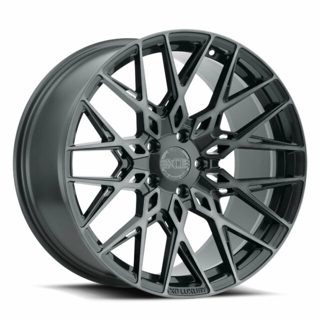 "19"" XO Phoenix Grey 19x8.5 Forged Concave Wheels Rims Fits"