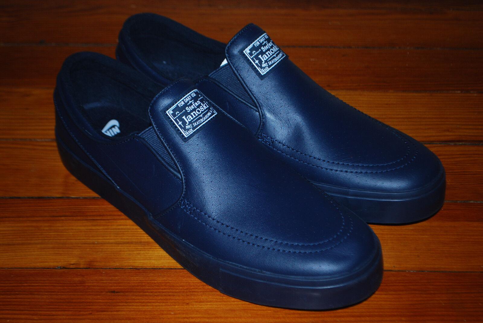 Nike SB Zoom Stefan Janoski Slip-On PRM Navy bluee shoes (11, 11.5, 12) 833582-441