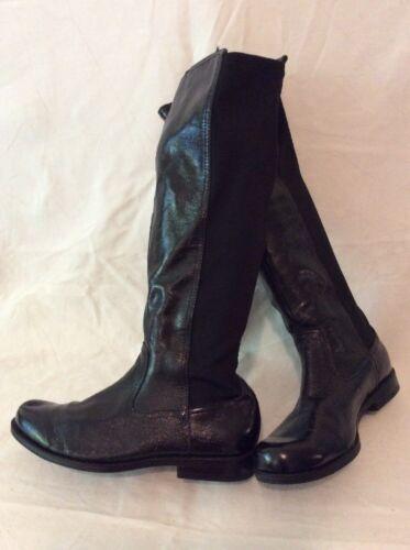 Bottes en au 5 taille genou noires cuir UAZdx8qwA