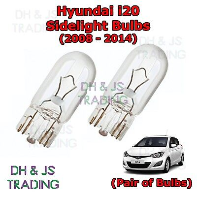 Fits Hyundai i20 Clear Halogen Xenon HID Parking Beam Side Light Bulbs