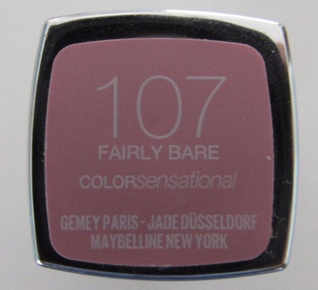 """NEW Sealed Maybelline Color Sensational Lipstick 107 """"Fairly Bare"""" New Sealed"""