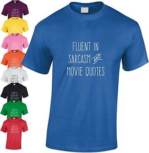 Fluent-en-Sarcasme-Film-Citations-Enfants-T-Shirt-T-Shirt-T-V-Cadeau-Noel
