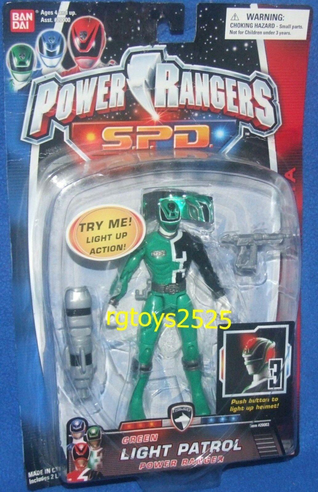 energia Rangers SPD Light Patrol 5 verde Ranger nuovo Factory Sealed 2004