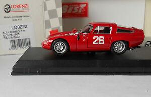 Alfa-Romeo-TZ1-Monza-1965-Pianta-Sala-1-43-mejores-Lorenzi-Menta-Y-Caja-LO0222