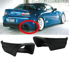 2004-2008 Mazda RX8 Black PU Rear Bumper Exhaust Cut off cover Lip Spoiler