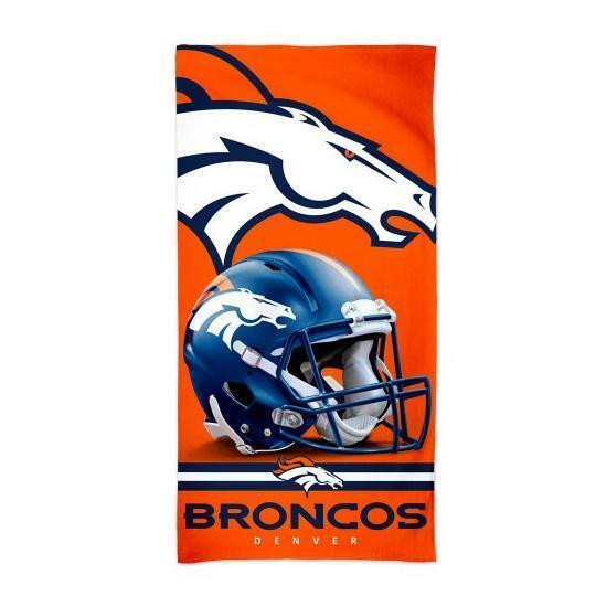 Denver Broncos NFL Football Beach Towel, Bath Towel Beach Towel, Helmet Logo