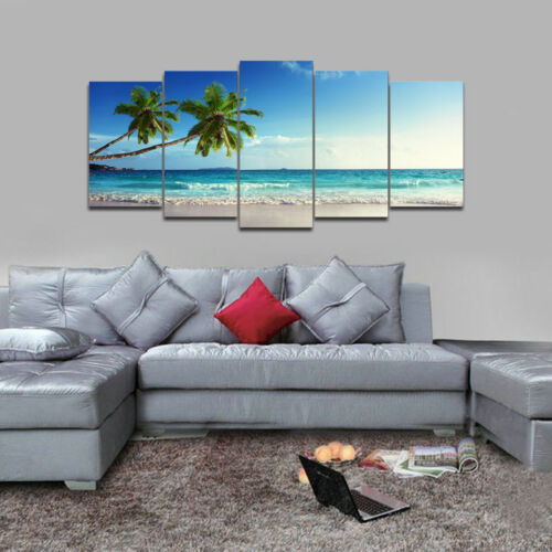Canvas Print Wall Art Home Decor Big Painting Picture Landscape Blue Sea Framed