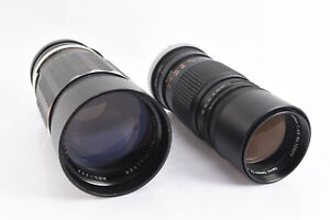 Vintage-Lot-of-2-Manual-Focus-Canon-FL-Camera-Lenses-PARTS-OR-REPAIR-V72