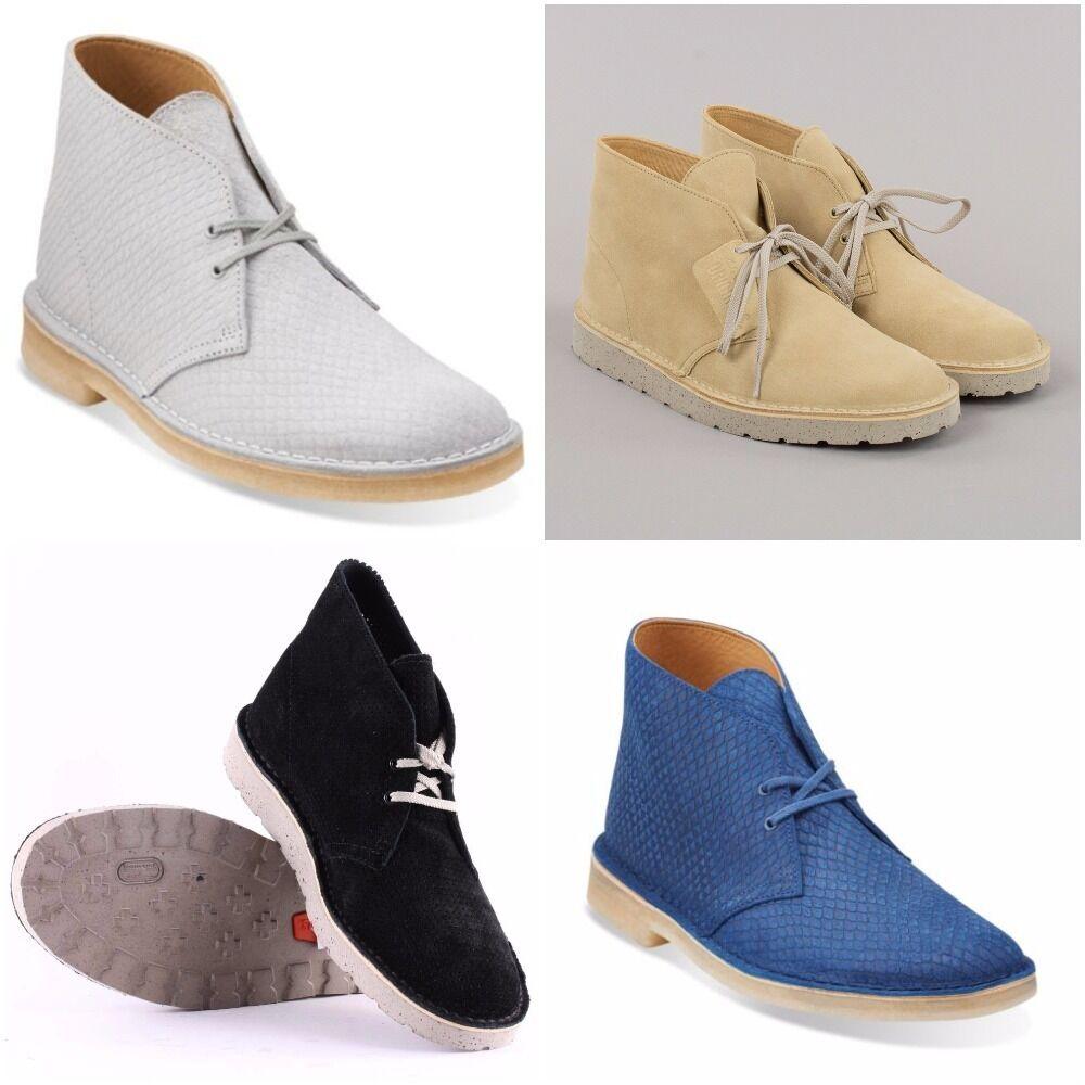 Clarks Uomo Camoscio Stivali Desert Boots, VARI STILI & COLORI - TAGLIE 6 - 11