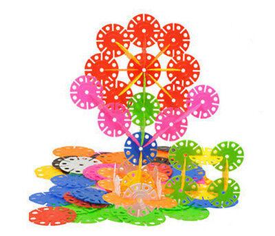 150 Pcs Kid Baby Snowflake Creative Building Plastic First-rate Blocks Toys ATAU