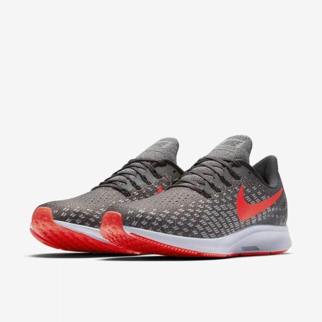 Nike Air Zoom Pegasus 35 Thunder Grey Bright Crimson Mens 13 Running 942851 006