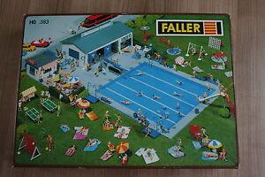 Faller-383-Schwimmbad-mit-Funktion-sehr-selten-neu