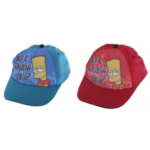 KC436 Childrens Kids Boys Bart Simpson Adjustable Baseball Cap 2 Colours