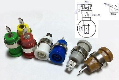 16PCS 600V 32A 4mm Binding Post Banana Socket Panel Mount Test Probe 8 Colors