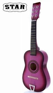 Star-Kids-Acoustic-Toy-Guitar-23-Inches-Pink-Color