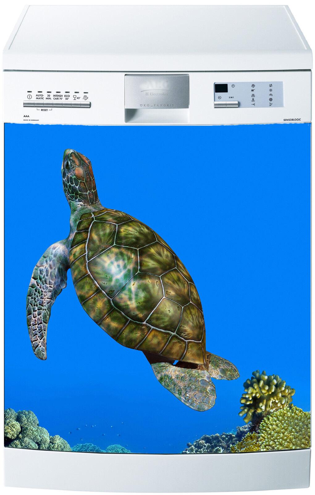 Adesivo Lavastoviglie Decocrazione Cucina Elettrodomestici Tartaruga Ref 561