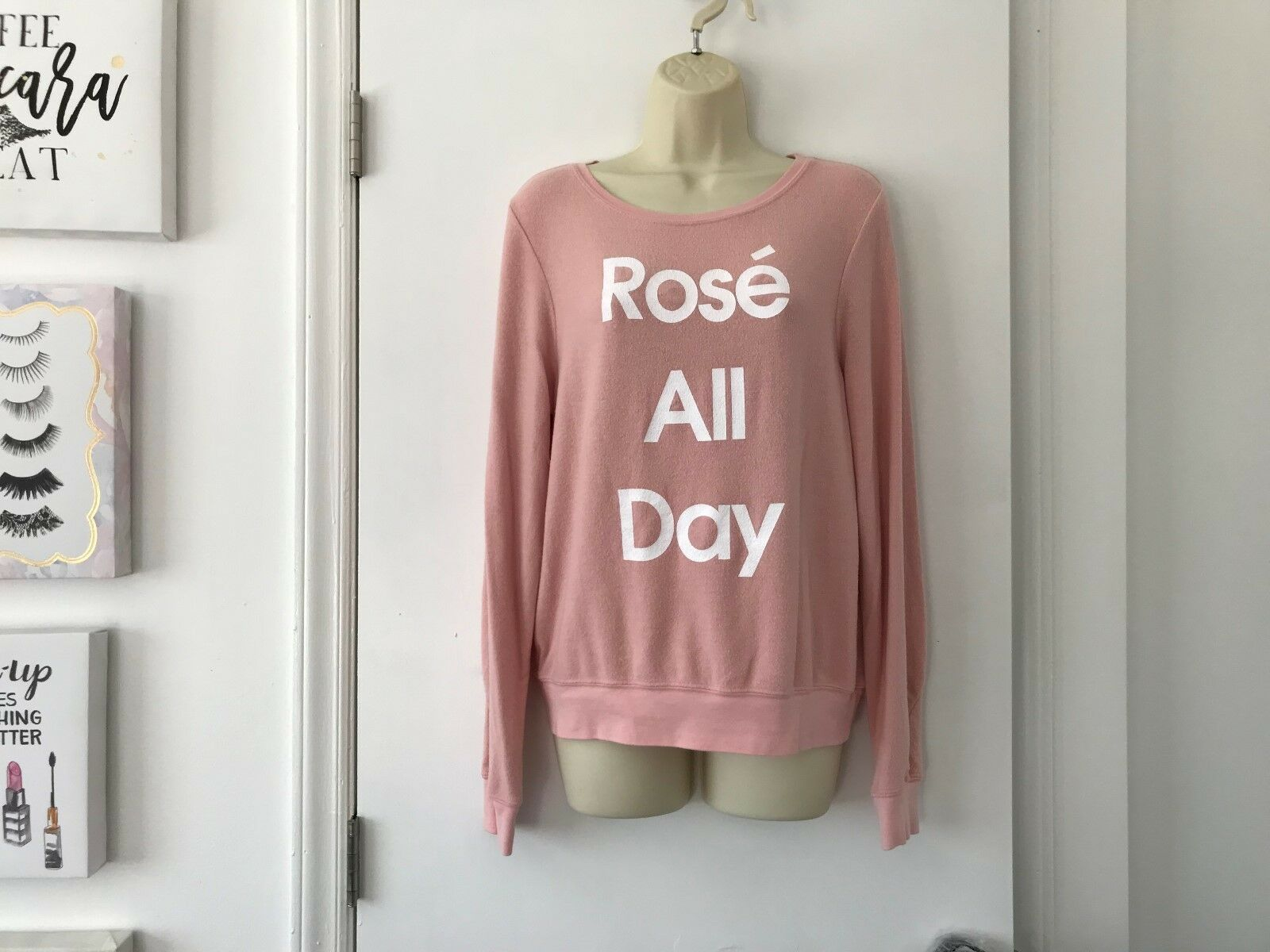 Wildfox Pink pink All Day BBJ Baggy Beach Jumper Sweater Sweatshirt X-Small XS