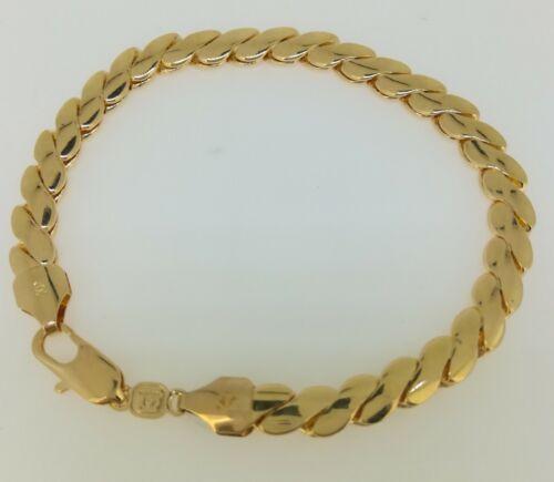 18K Yellow GOLD GF Twist Pattern CHAIN BRACELET BL-A401 Woman Gift Wedding