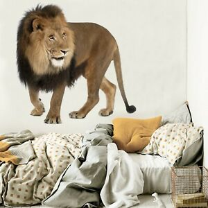 3D-Black-Lion-A62-Animal-Wallpaper-Mural-Poster-Wall-Stickers-Decal-Zoe