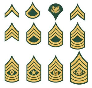 U S Army Rank Insignia Private Sergeant Specialist