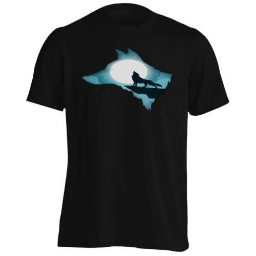 Be Wild Beautiful Wolf Head Men/'s T-Shirt//Tank Top hh694m