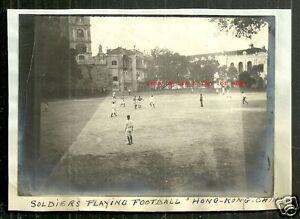 Hong Kong photo Soldiers Football Parade Ground China 1908