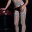 Indexbild 7 - Damen Geölt Glänzend Spitze Strapse Strumpfhose Durchsichtig Hoch Strümpfe