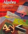 Algebra: Structure and Method Book 1 by Richard G. Brown (1989, Hardcover)