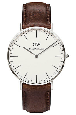 NEW Daniel Wellington Classic Bristol 40mm Silver Watch