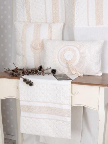 Nappe Blanc Table Coureur style maison de campagne Couverture aspect lin