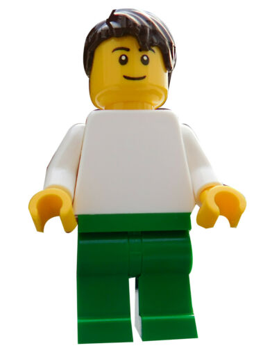 Lego Max Torso in weiss Beine grün Minifigur Figur Legofigur edu001 Neu