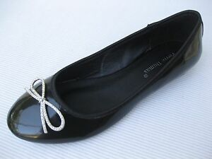 Pierre-Dumas-Womens-Shoes-NEW-42-Nizza-Black-Patent-Ballet-Flat-9-M
