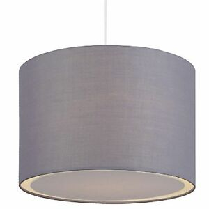 Pendelleuchte-Deckenlampe-Stoffschirm-grau-1x-E27-max-60W-BRILLIANT