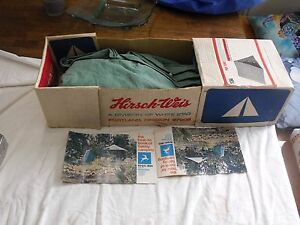 Image is loading Vintage-Hirsch-Weis-White-Stag-Canvas-Pup-Tent- & Vintage Hirsch Weis White Stag Canvas Pup Tent w/ original box No ...