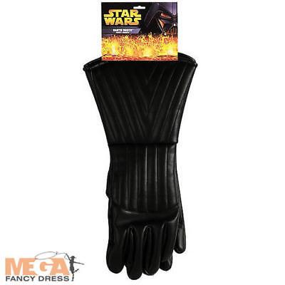 Darth Vader Uomo Nero Guanti Di Star Wars Costume Adulto Costume Accessorio Nuovo-mostra Il Titolo Originale Tecniche Moderne