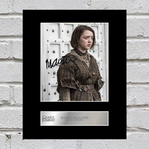 Maisie Williams Signed Mounted Photo Display Arya Stark Game of Thrones
