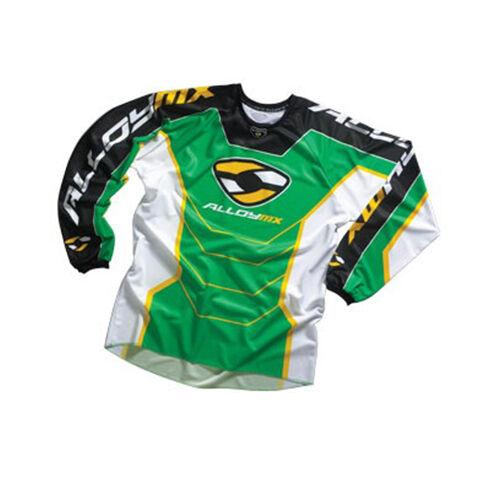 ALLOY MX MOTOCROSS JERSEY SHIRT 05 REACTOR GREEN YELLOW enduro mtb bike top