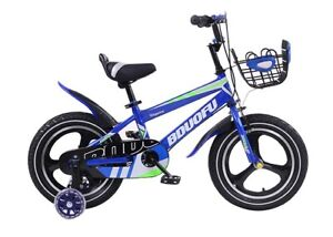 "TYNEE™ Childrens Kids Boys Blue Bike Bicycle 16"" W/ REMOVABLE STABILISERS BRAKES"