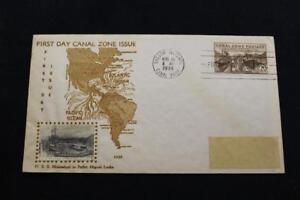 Kanal-Zone-Abdeckung-1939-1ST-Tag-Ausgabe-25TH-Jahrestag-Eroeffnung-Panama-Crosby
