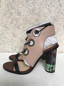 cfa53bdd148 Image is loading Zara-Combination-High-Heel-Leather-Sandals-Multicolor-Sold-