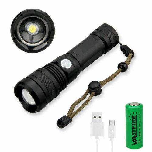 3500LM XHP50 LED Flashlight Zoomable Powerful Torch 5 Modes Light Adjust Focus