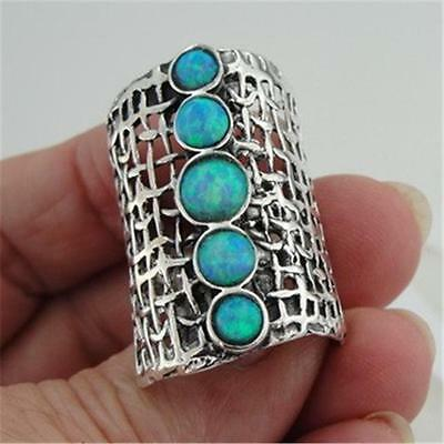 Hadar Designers Handmade Unique 925 Sterling Silver Opal Ring any sz (H 1142b