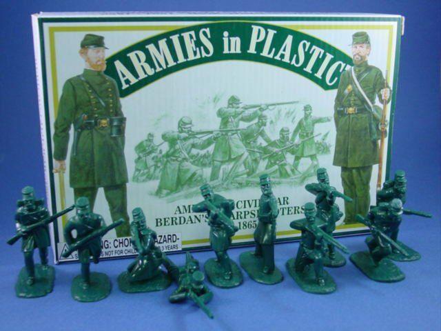 ARMIES IN PLASTIC 5458 Civil War Berdan's Sharpshooters 20 Figures FREE SHIP