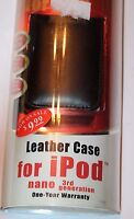 Fast Trax Black Leather Case For Ipod Nano 3rd Generation