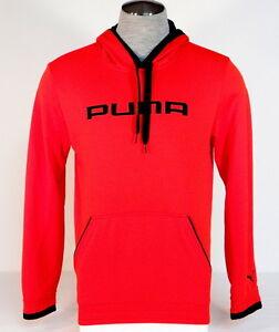 Puma Cell Dry Red   Black Post Game Hooded Sweatshirt Hoodie Mens ... 1c186ab14