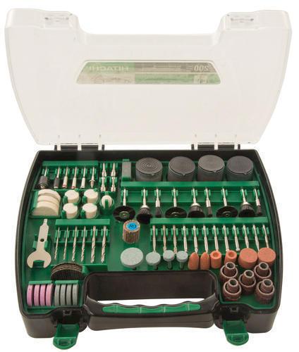 """HITACHI 200 Piece Rotary Tool Set Fits ALL 1/8"""" capacity Rotary Tools NEW"""