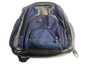 Ful-Blue-Black-Gray-Laptop-Travel-School-Backpack-Headphone-Audio-Pockets-17