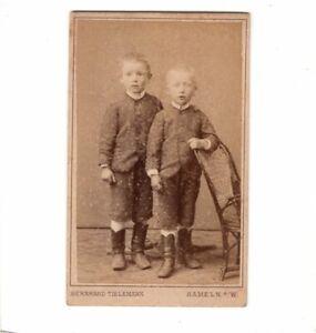 CDV-Foto-Niedliche-kleine-Jungen-Hameln-1880er