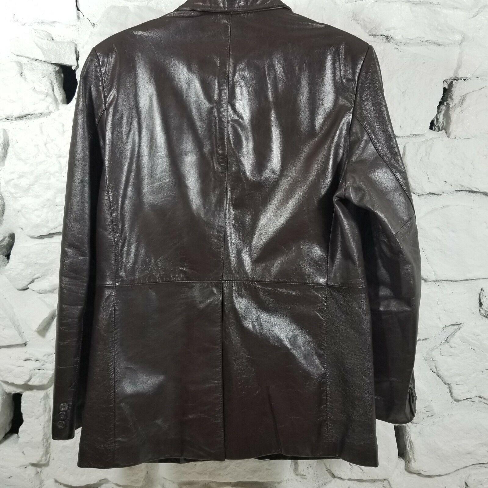 Hill & Archer Mens Sz 42 Brown Genuine Leather Bl… - image 6