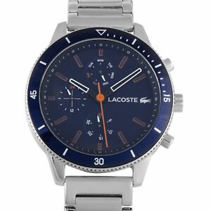 Lacoste Men's Key West Navy Blue Dial Stainless Steel Watch 2010995 NEW